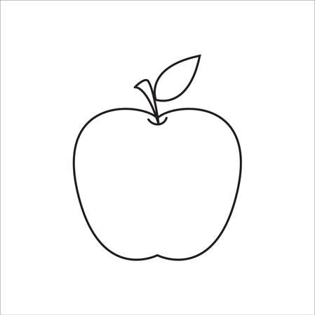 Apple outline shape icon. Vector