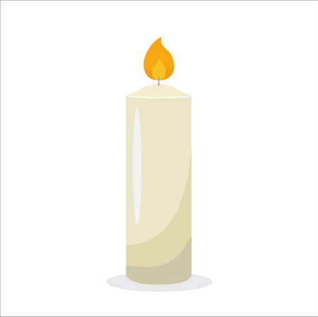 Candle vector on white background 일러스트