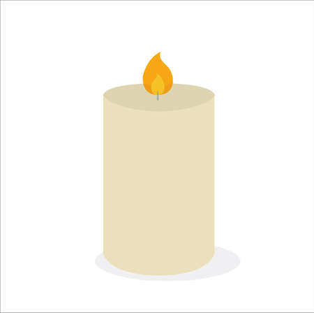 Candle flame fire Light vector isolated on a white background 일러스트