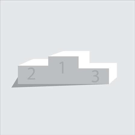 White winners podium vector on background 矢量图像