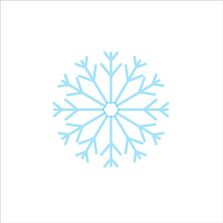 Snowflake sign. Vector, flat design. 矢量图像
