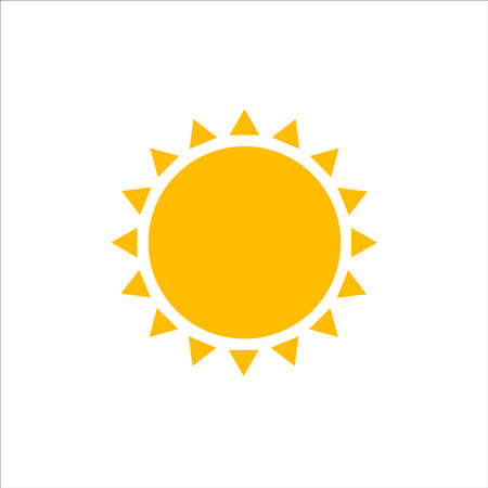 Sunny weather icon, sun icon. Vector illustration, flat design