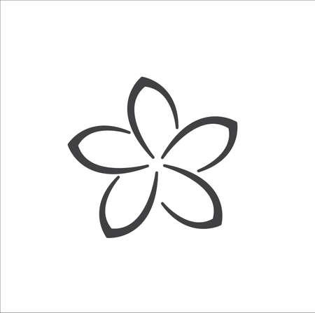 Beauty plumeria icon flowers design vector 矢量图像