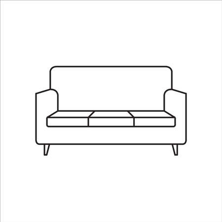 Sofa outline icon. Vector illustration.