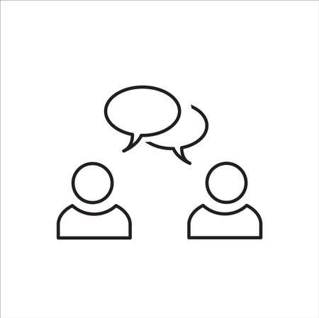 Speaking people icon vector 矢量图像