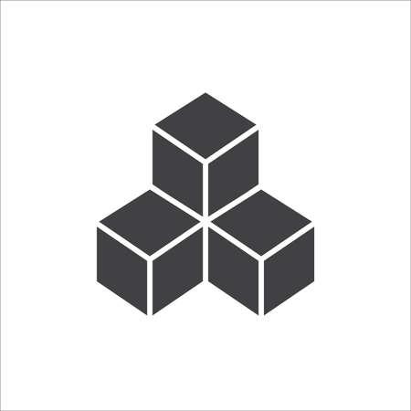 Icono de cubo. diseño de letreros .vector