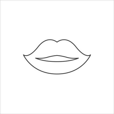 lips. lips icon. lips vector. flat style. sign design vector