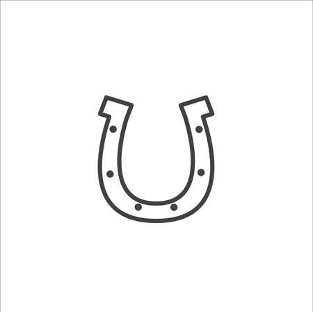 Outline Horseshoe vector Icon isolated on white background
