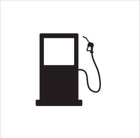Gas station icon vector on white background 일러스트