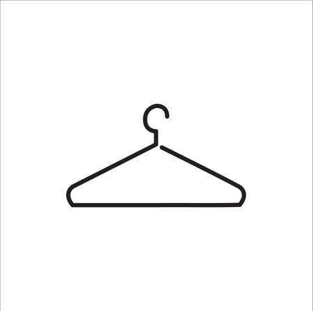 Hanger flat - Vector icon on white background Illustration