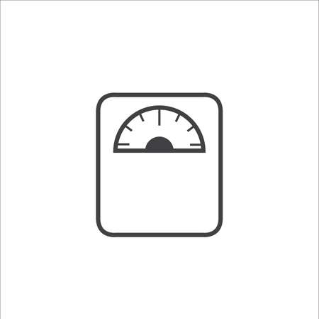 Weight scale measurement flat icon vector