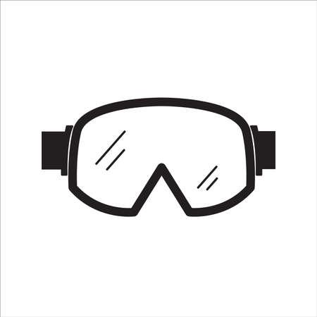 Icono de gafas de esquí. Vector Ilustración de vector
