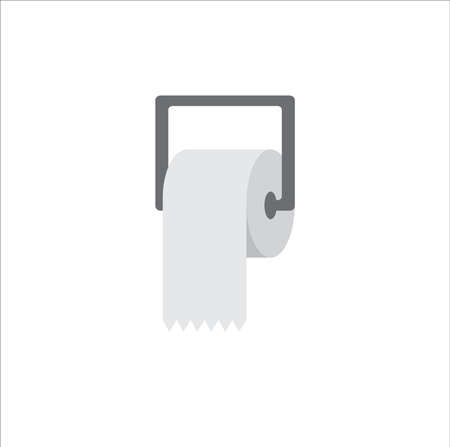 Toilet paper flat style. - Vector