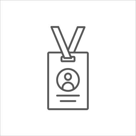 Press card outline icon vector