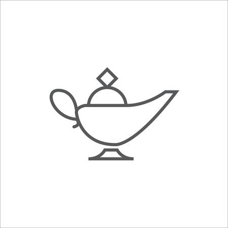 Magic oil lamp icon vector,