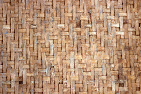 Abstract old bamboo mat texture for background