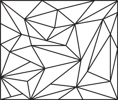 Polygon pattern design. Vector Illustration
