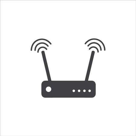 Router icon vector illustration on white background