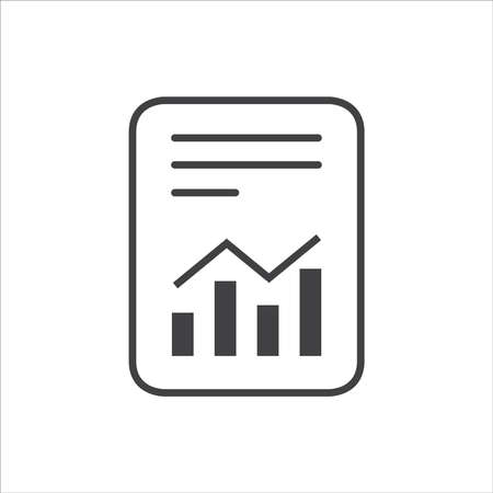 Report text file icon. Document with chart symbol