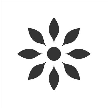 Flower icon isolated on white background