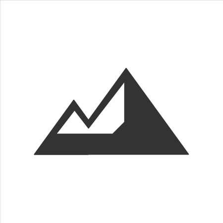 High mountain icon logo vector illustration design template 矢量图像