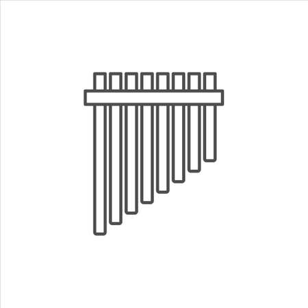Pan flute icon vector on white background 일러스트