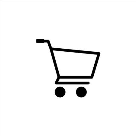 Shopping cart icon vector on white background