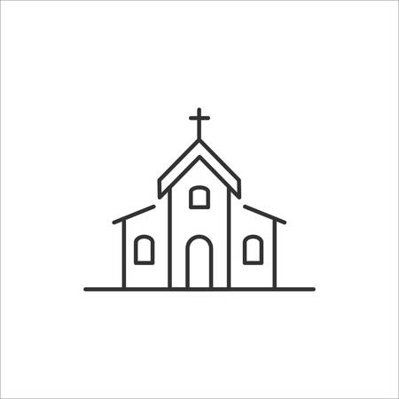 Church vector icon on white background