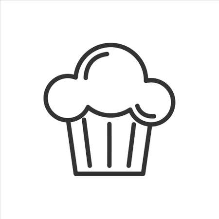 Muffin vector icon on white background