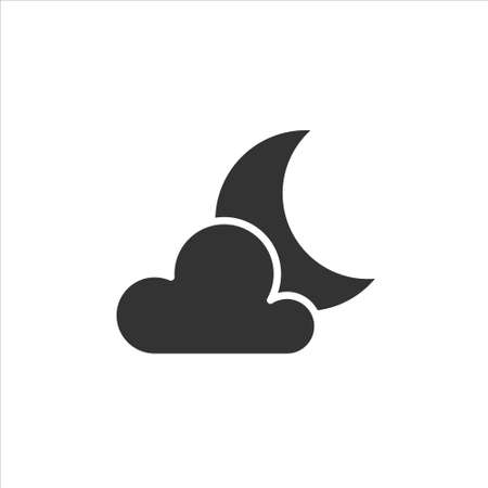 Night vector icon on white background