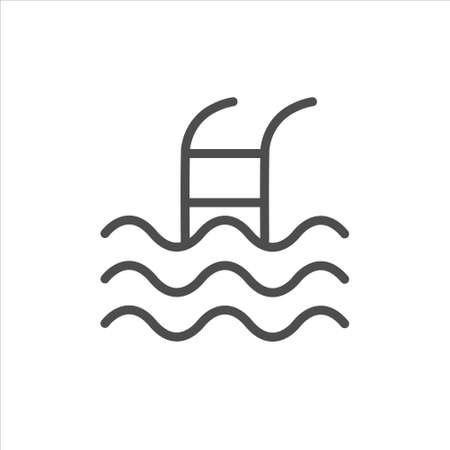 Swimming pool icon vector on white background