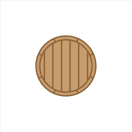 Wooden barrel design vector icon on background