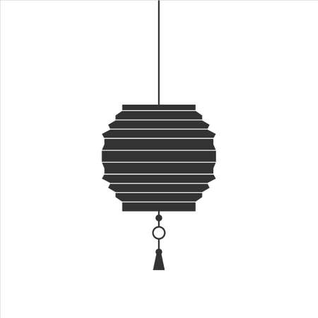 Chinese lantern icon design flat vector on white background