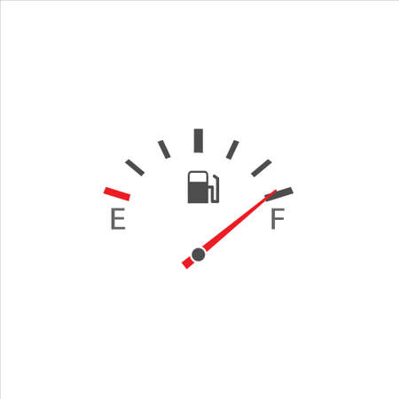 Fuel tank indicator. Full fuel meter, Vector on white background 일러스트