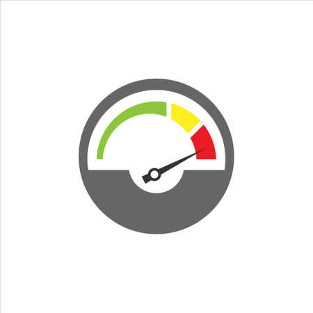 Increase productivity or tachometer vector icon on white background