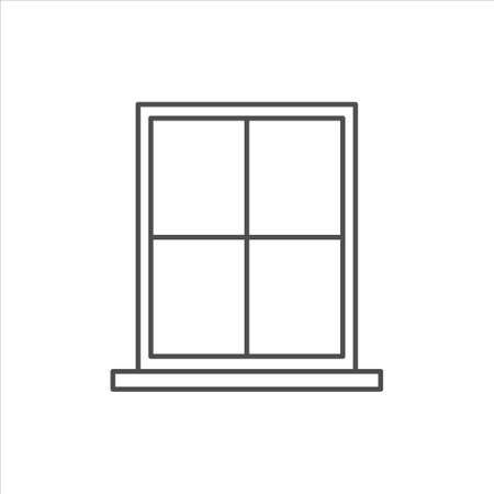 Window vector icon on white background 矢量图像