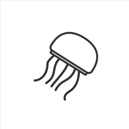 Jellyfish icon, vector illustration on white background