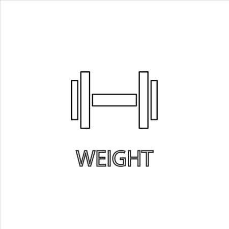 Weight icon vector. weight vector graphic illustration