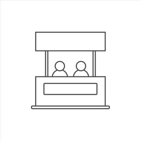 Promo stand icon vector illustration on white background 矢量图像