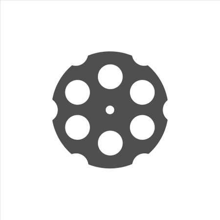 Revolver cylinder icon vector on white background 矢量图像