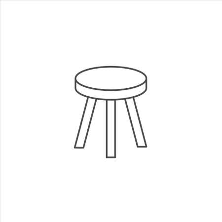 Stool icon, chair vector illustration on white background