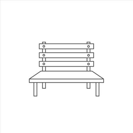 Street bench icon vector illustration sign  on white background 矢量图像