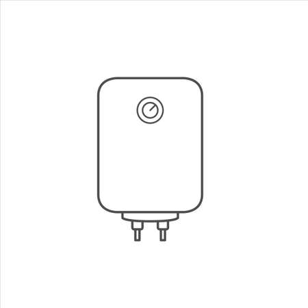 Boiler icon, water heater vector on white background 矢量图像