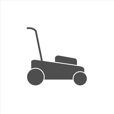 Lawn mower icon, mower vector illustration