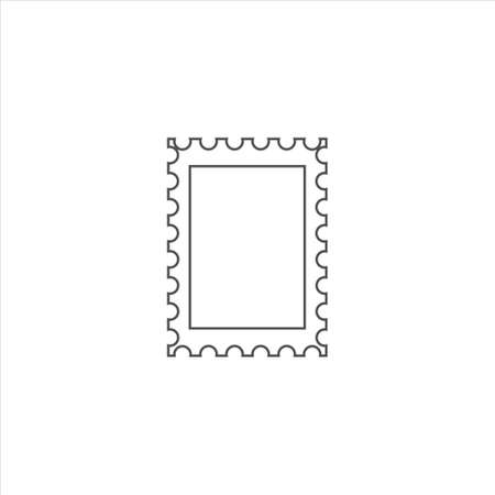 Postage stamp icon vector illustration on white background