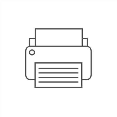 Printer icon, fax vector on white background 矢量图像