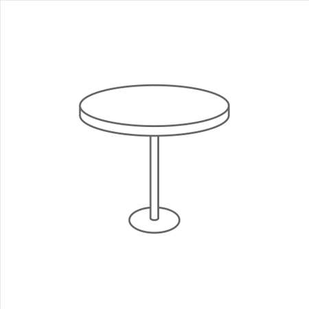 Table icon, dinner table vector, desk illustration on white background