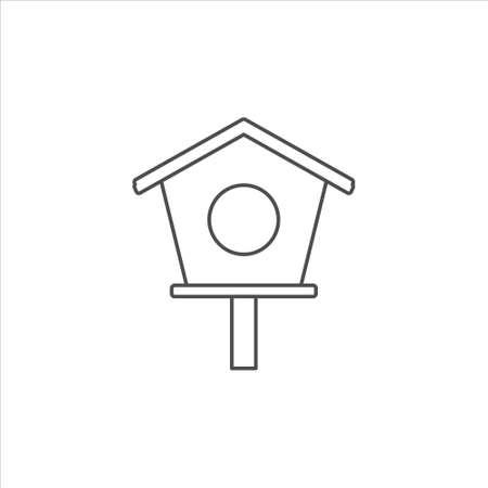 Bird house icon, nest box vector illustration on white background 矢量图像