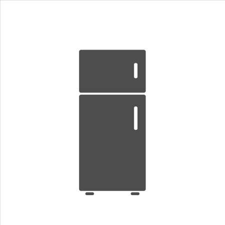 Refrigerator icon vector on white background 矢量图像