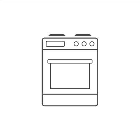 Stove icon vector on white background